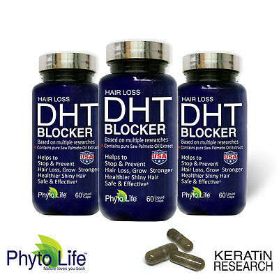 Prevent Hair Loss DHT BLOCKER X3 With Pure Saw Palmetto Oil
