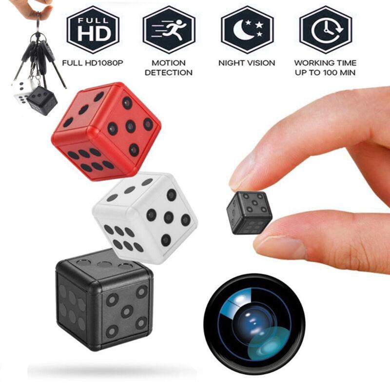 HD 1080P Mini Hidden Dice Spy Camera Dash Cam IR Night Vision DV DVR 16G 32G USA