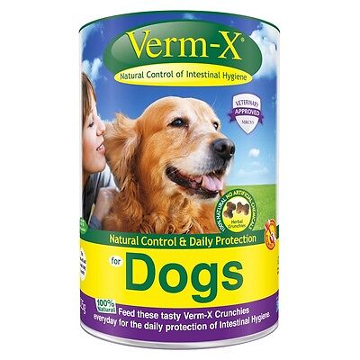 Verm-X Herbal Crunchies Worm Control Treats for Dogs - 325g