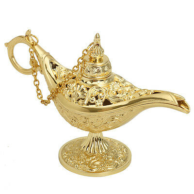 Gold Aladdin Magic Genie Light OiL Lamp Pot Mini Legend Light Stunning Decor](Genie Lamp)