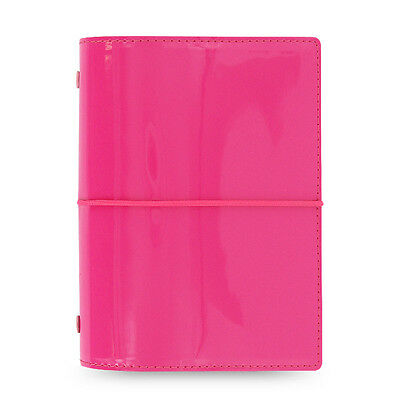 Filofax Pocket Size Domino Patent Organiser Planner Diary Hot Pink - 022480 Gift