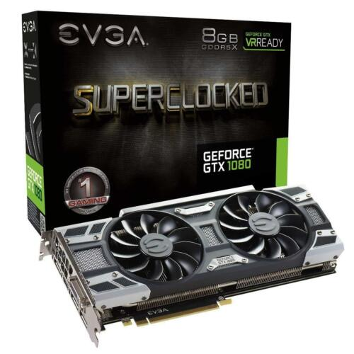 eVGA EVGA NVIDIA GeForce GTX 1080 8GB GDDR5X PCI Express 3.0 Graphics Card Black 08G-P4-6183-KR