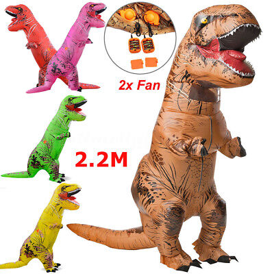 Adult Dinosaur Halloween Costume (ADULT/KID T-REX INFLATABLE Costume Jurassic World Park Blowup Dinosaur)