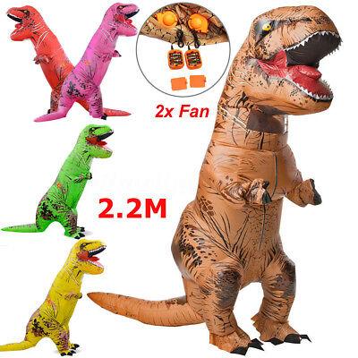 ADULT/KID T-REX INFLATABLE Costume Jurassic World Park Blowup Dinosaur Halloween