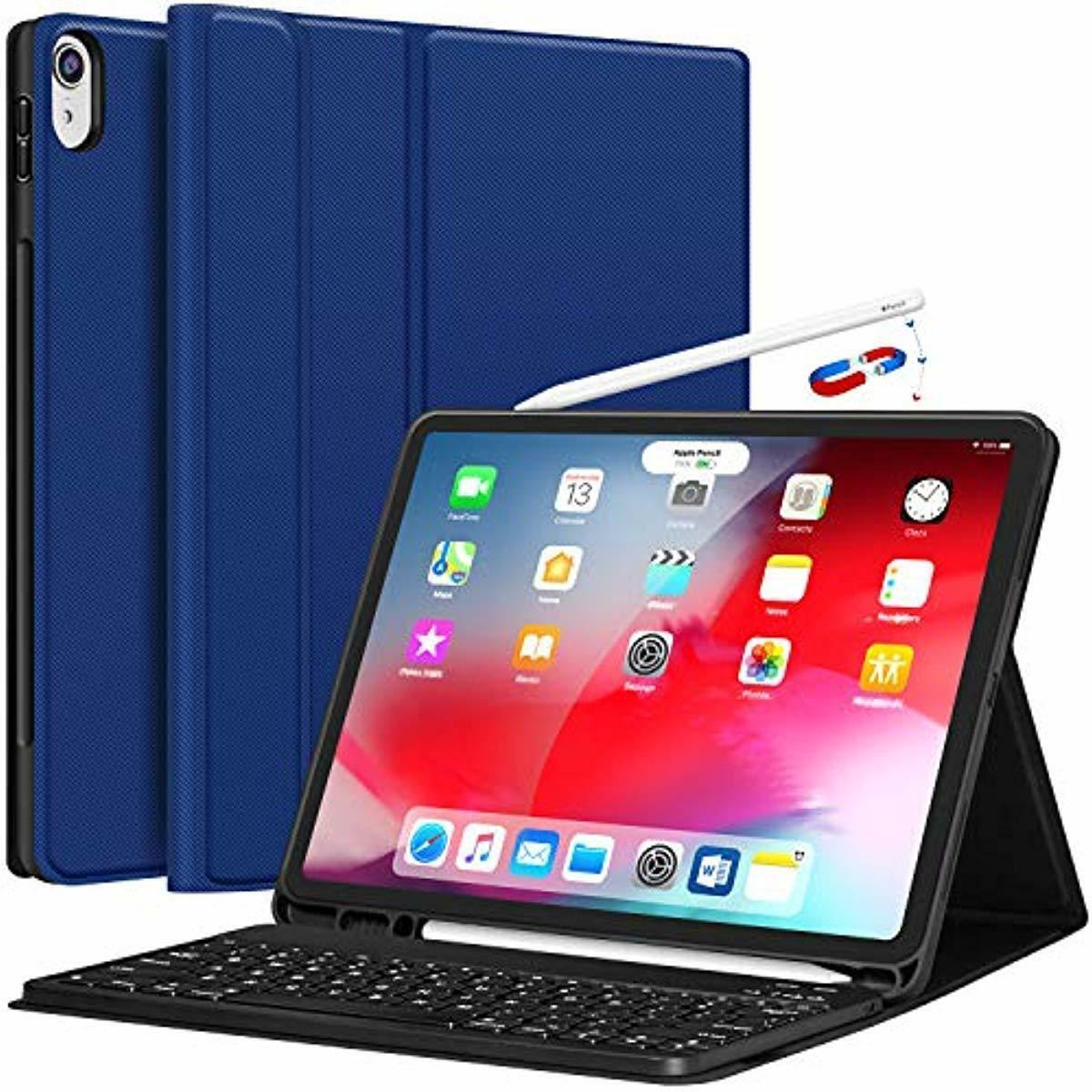 iPad Pro 12.9 Case with Keyboard 2018-3rd Gen  [w