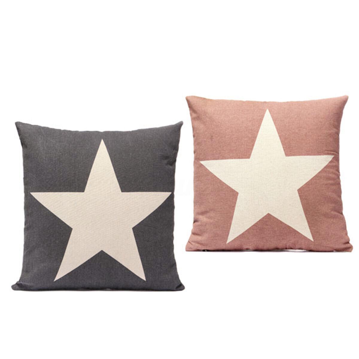 42x42cm Pillow Case Linen Waist Throw Sofa Back Home Car Seat Cushion Home & Garden