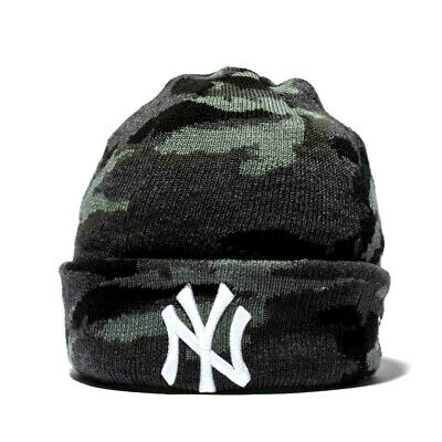 best service 175af 9df86 New Era New York Yankees Kids Black Camouflage Knit Beanie Hat Official New