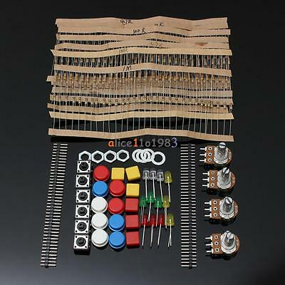 Electronic Parts Pack KIT for ARDUINO Component Resistors Switch Button ()