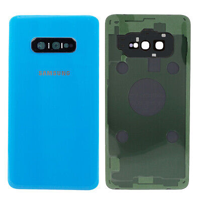 Blue Back Glass Battery Cover Housing Door + Camera Lens For Samsung Galaxy S10E ()