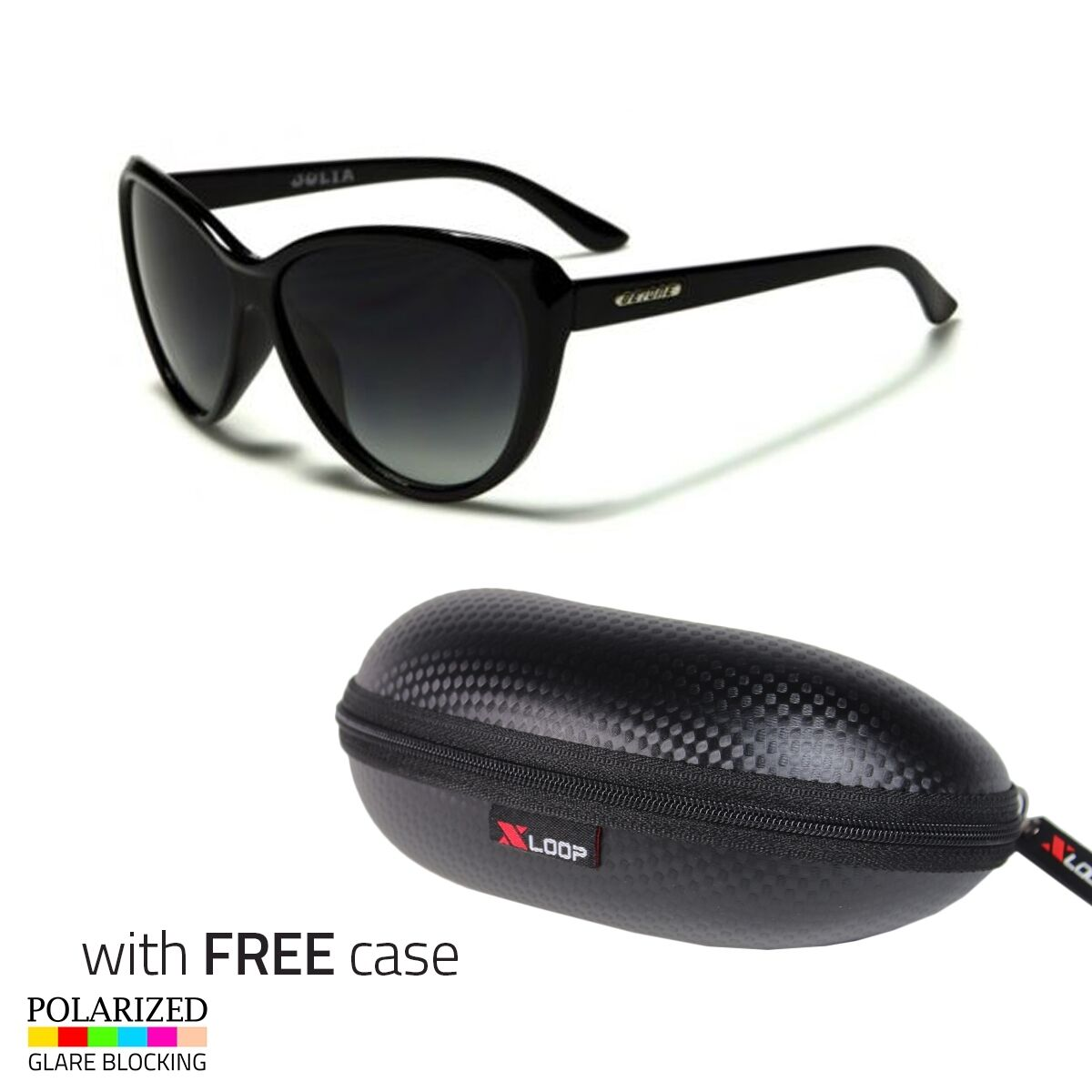 Black Cat Eye POLARIZED Sunglasses Retro Classic Vintage Des