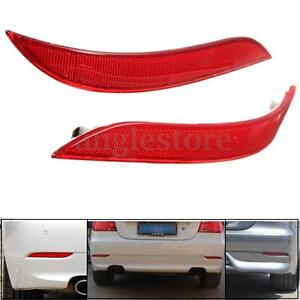 Pair Red Rear Bumper Reflector For BMW 5 Series E60 525i 528i 530i 535i 545i US