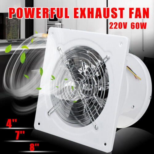 4/7/8'' High Speed Exhaust Fan Ventilation Extractor For Kit