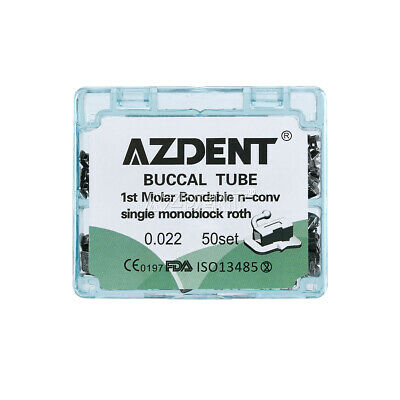 Dental Ortho Tooth Buccal Tube 1st Molar Bondable Non-convertible Roth 022