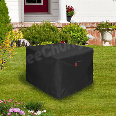 Amolliar Gas Fire Pit Cover Square Premium Patio Outdoor 100% Water-Proof for 30