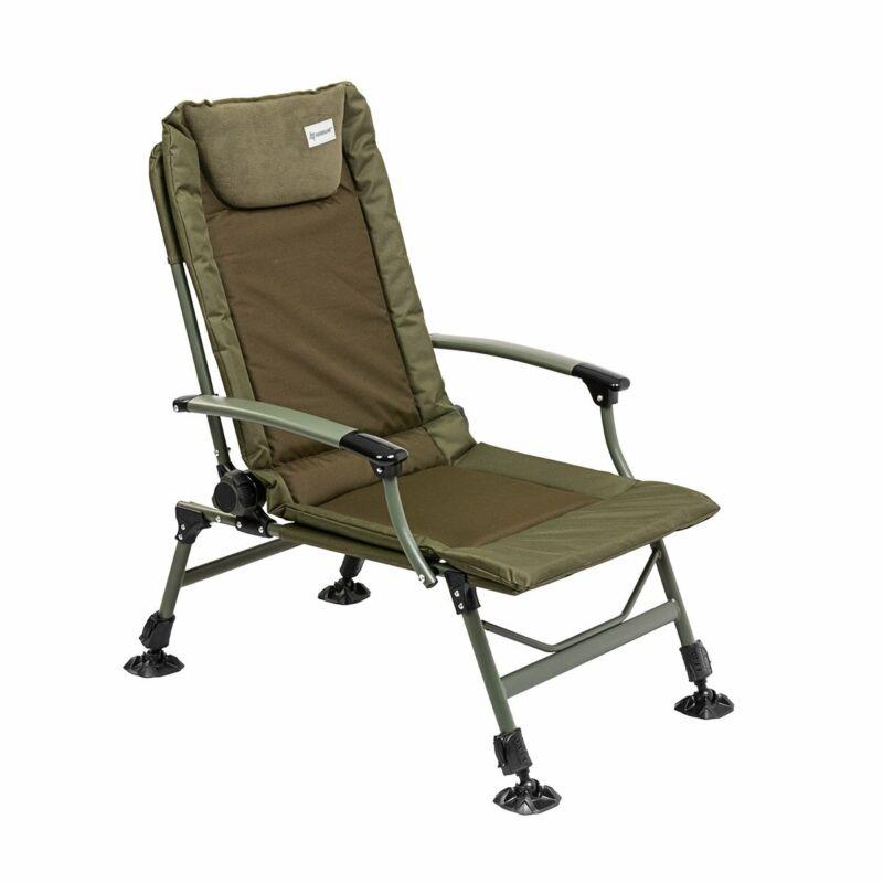 NISUS Carp Fishing Armchair Big Green Neoprene Headrest Adjustable Inclined Back