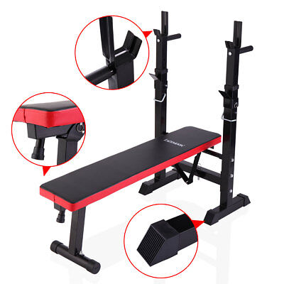 Black Folding Weight Lifting Incline Bench Adjustable New