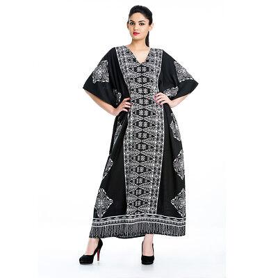Muslim Kaftan Women Dress Abaya Maxi Islamic Long Sleeve Arab Jilbab Cardigan