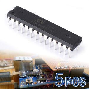 5X 8-Bit Atmega328P-PU Atmel Microcontroller Mikro Controller mit UNO Bootloader