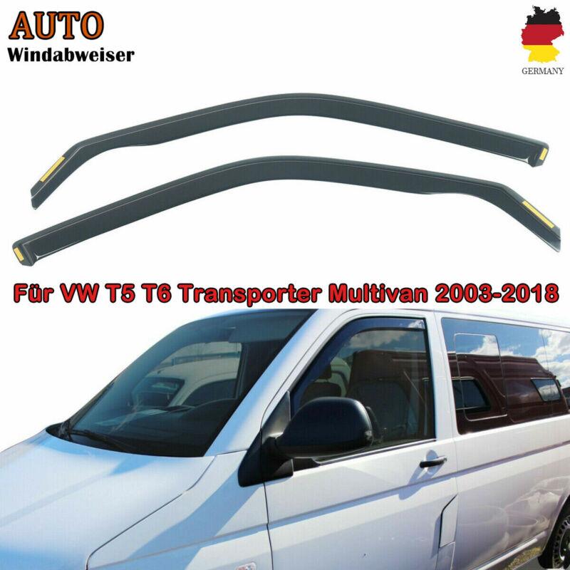 für VW T5 / T6 2-türer 2003-heute Magickit Windabweiser dunkel 2-tlg Satz vorne