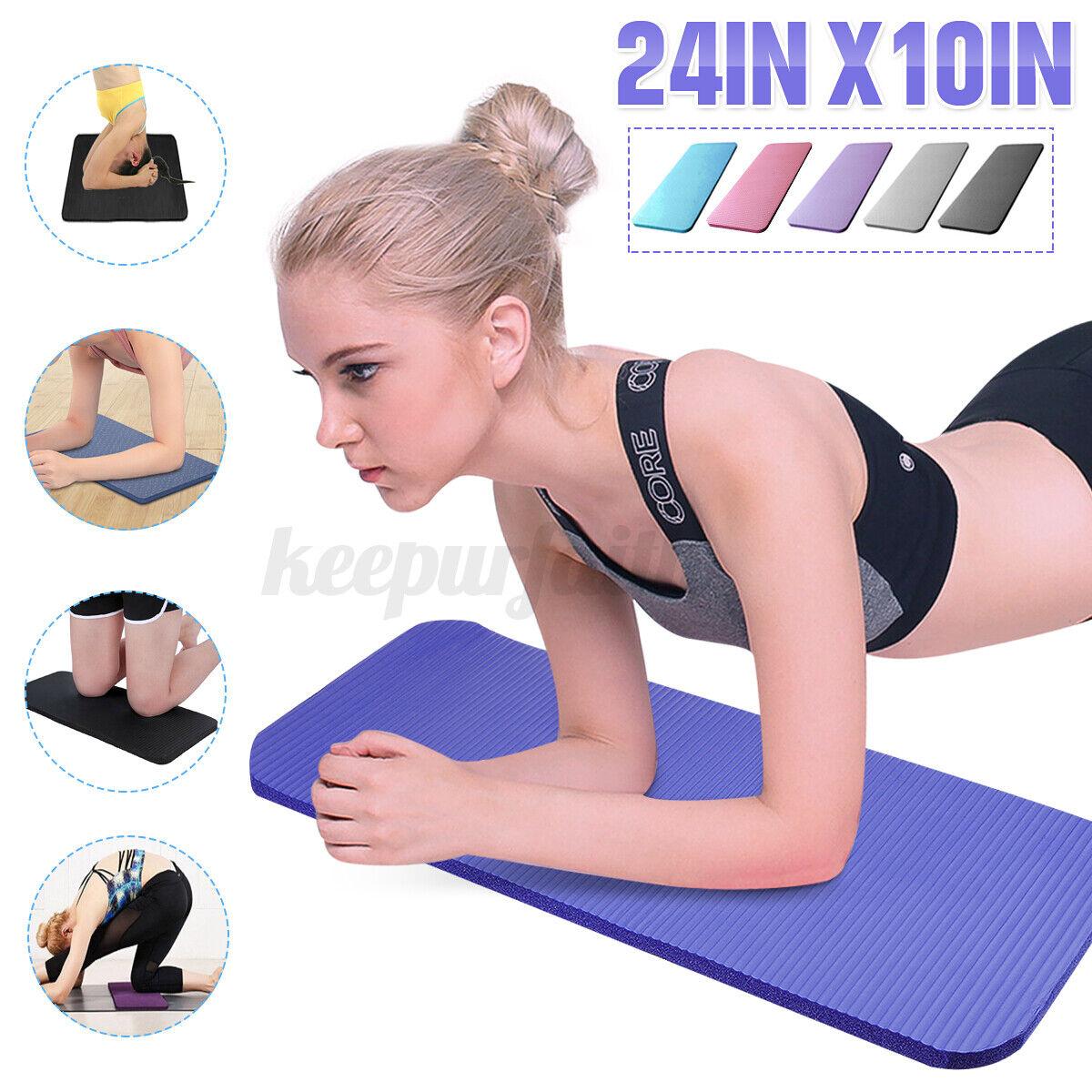 24''X10'' Yoga Knee Pad Cushion Anti-Slip 15mm Thick Workout