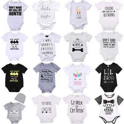 Newborn Infant Baby Boy Girl Cotton Romper Bodysuit Jumpsuit Clothes Outfit Lots - Infant Boy Outfit