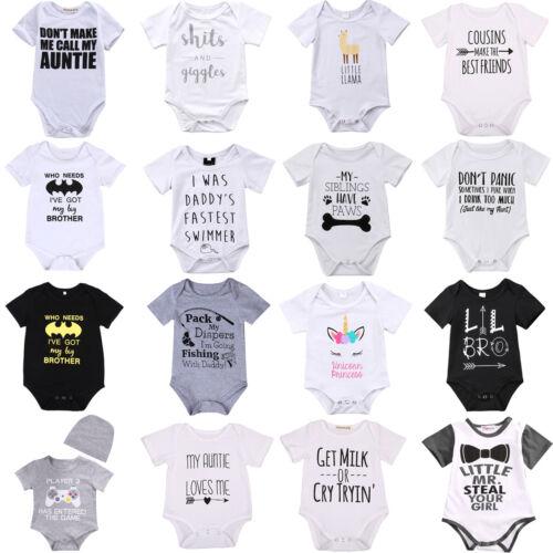 newborn infant baby boy girl cotton romper
