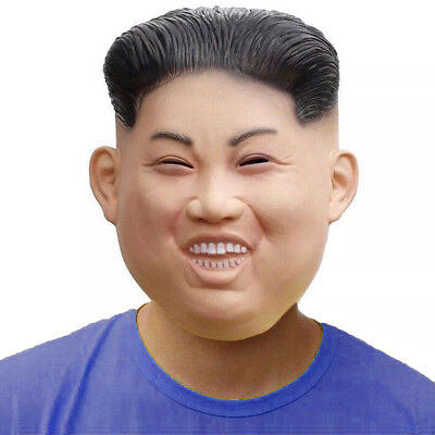 Kim Jong Un Halloween Costume Mask Latex Celebrity Funny Face Leader Mask - Celebrity Latex Mask