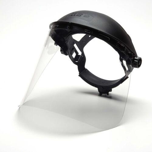 Pyramex Polyethylene Face Shield S1010, ANSI Z87, Face Shield Only, New
