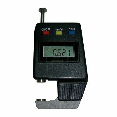 Electronic Digital Pocket Thickness Gage Paper Mic 0-0.6 0 - 15mm With Case