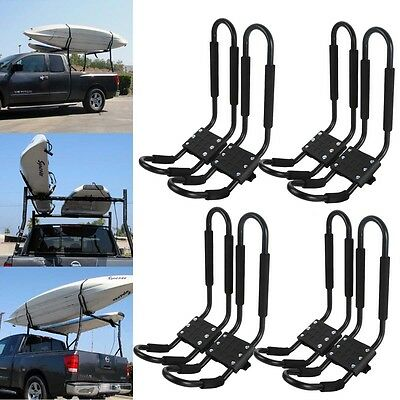 4 Pair Canoe Boat Kayak Roof Rack Car SUV Truck Top Mount Carrier J Cross Bar
