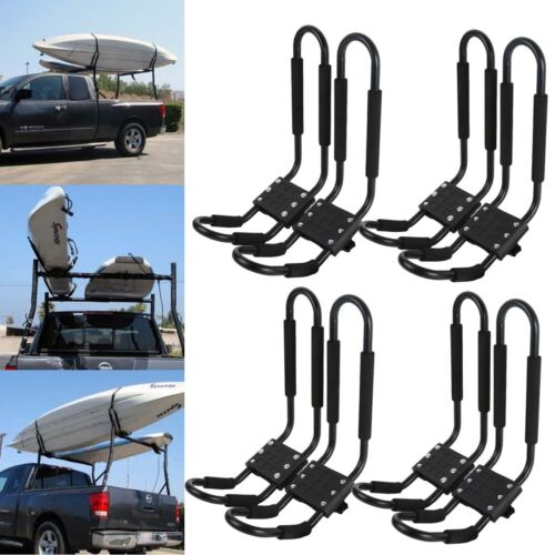 Kayak Roof Rack For Cars >> Details About 4 Pair Universal Kayak Roof Rack For Suv Car Top Mount Carrier Cross J Bar Canoe