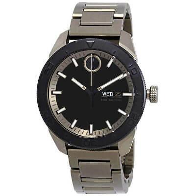 Movado Men's Watch Bold Quartz Black Dial Khaki Bracelet 3600511