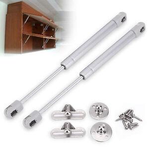 2 Pcs Gas Strut Lid Stay Support Kitchen Cabinet Door Hinge 100N