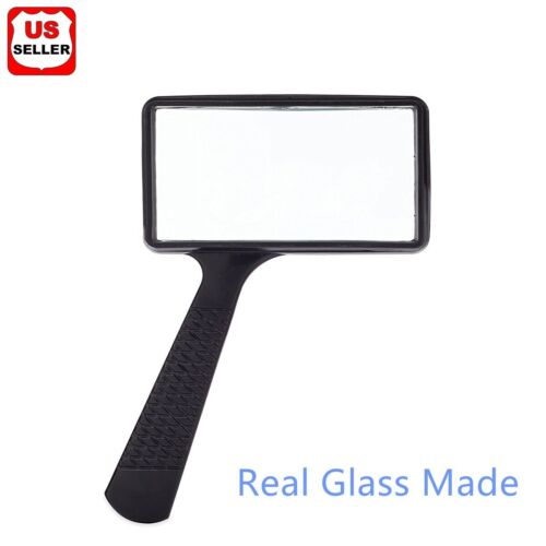Handheld Rectangular 3X Magnifier Magnifying Glass Loupe For Reading Jewelry  US Jewelry & Watches