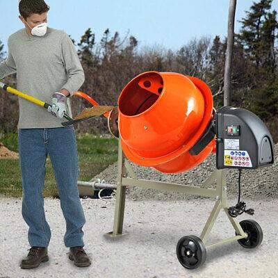 Portable Electric 2-15cuft Concrete Cement Mixer Barrow Machine Mixing Mortar