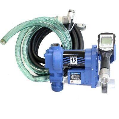 12 Volt Diesel Gasoline Anti-explosive Fuel Transfer Pump Wdigital Nozzle Meter