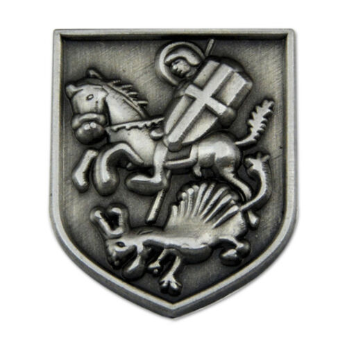 St. George Slaying the Dragon Masonic Lapel Pin - [Antique Silver][3/4
