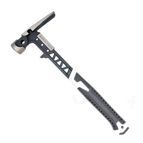 Monoceros 16oz Claw Hammer Non-slip Shock Reduction Grip Multifunctional Hammer