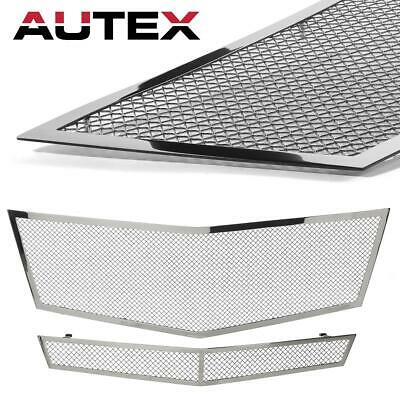 Chrome Stainless Steel Mesh Grille Combo fits 2008 2009 2010 Cadillac CTS