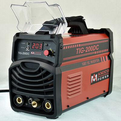 Tig-200dc 200 Amp Tig Torch Stick Arc Dc Inverter Welder 110v 230v Welding