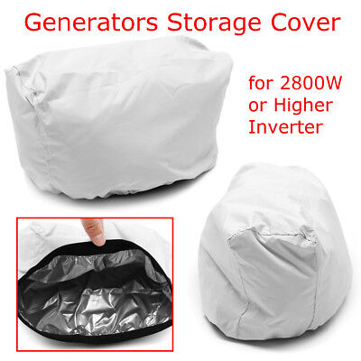 All Weather Protect Weatherproof Durable Inverter Generator Cover Large Silver