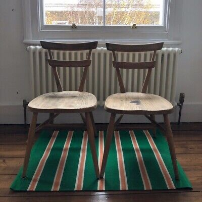 Vintage Ercol Child Stacking Chairs x 2 - Blonde - Mid Century Pair