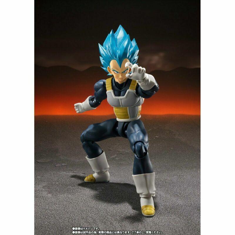 S.H.Figuarts Super Saiyan God Blue SSGSS Vegeta Dragon Ball Super SHF For Gift