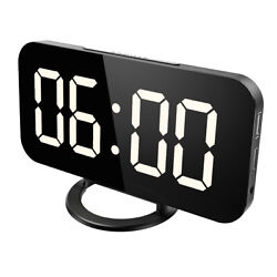 1*Digital USB Electric Led Alarm Clock,With Phone Wireless Charger Table Desktop