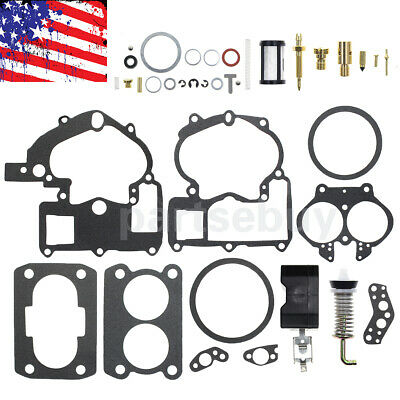 Carb Kit For Mercruiser Marine 2Barrel 3.0 4.3 5.0 5.7L 120 140 165 170 200 HP