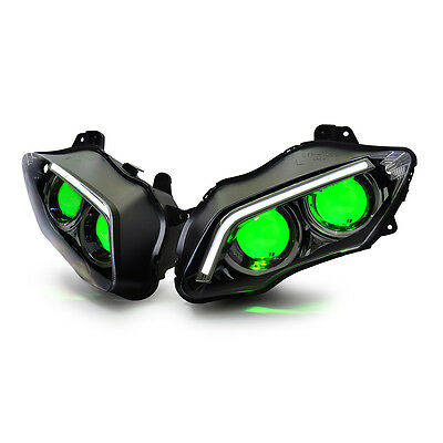 KT LED Headlight for Yamaha YZF R1 2007-2008 Green