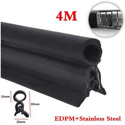 Universal 4Meters Car Door Bonnet Trunk Hood Edge Rubber Steel Belt Seal Strips