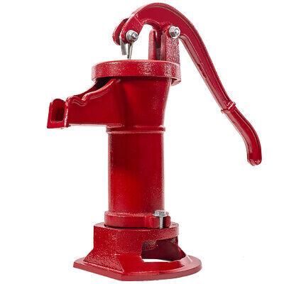 Hand Water Pump Well Pitcher Cast Iron Press Suction Outdoor Yard Ponds Garden