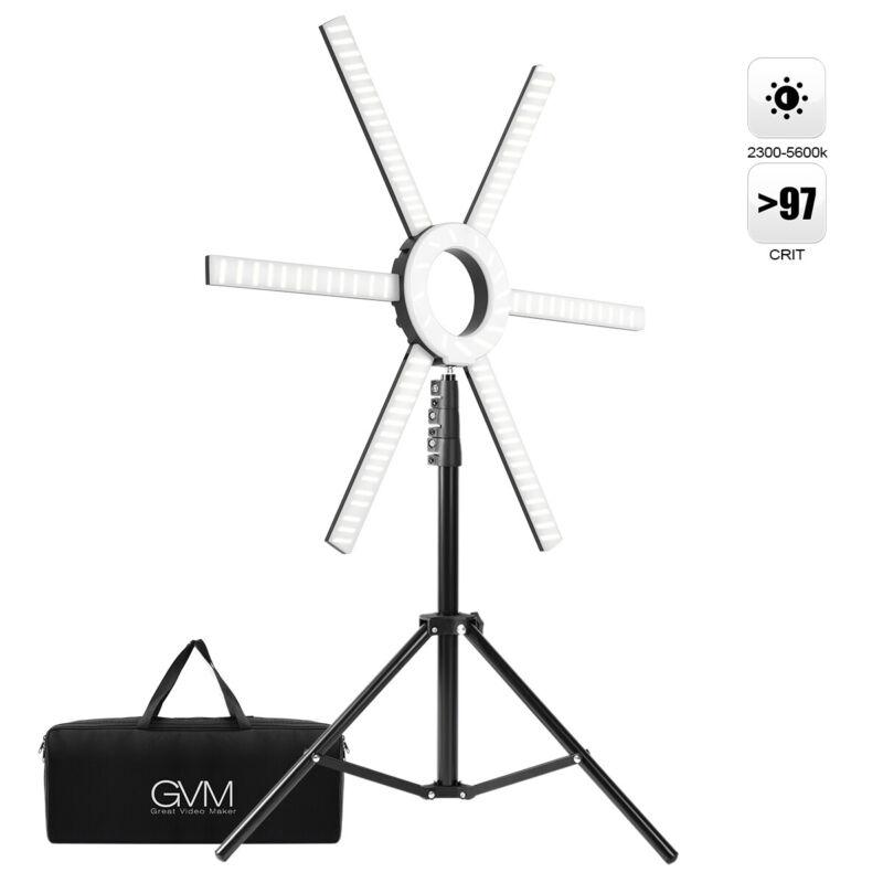 GVM-600S LED Ring Light,for YouTube, Lighting Portrait, Video Shooting, Make Up