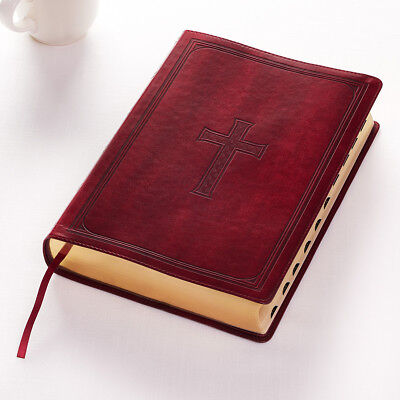 KJV HOLY BIBLE King James Version Burgundy Giant Print Thumb Index BRAND NEW